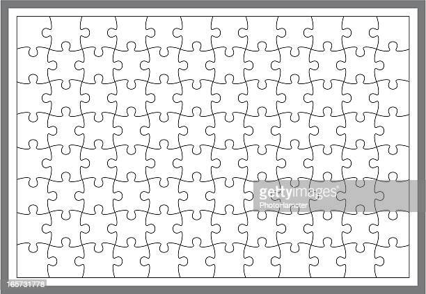 simple puzzle frame - jigsaw piece stock illustrations, clip art, cartoons, & icons