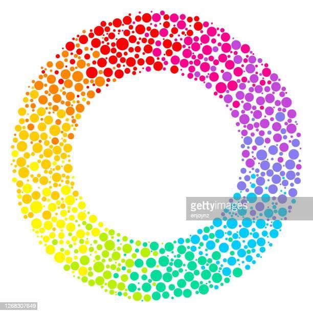 シンプルな虹点描円 - 結婚の平等点のイラスト素材/クリップアート素材/マンガ素材/アイコン素材