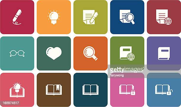 simple reading icons