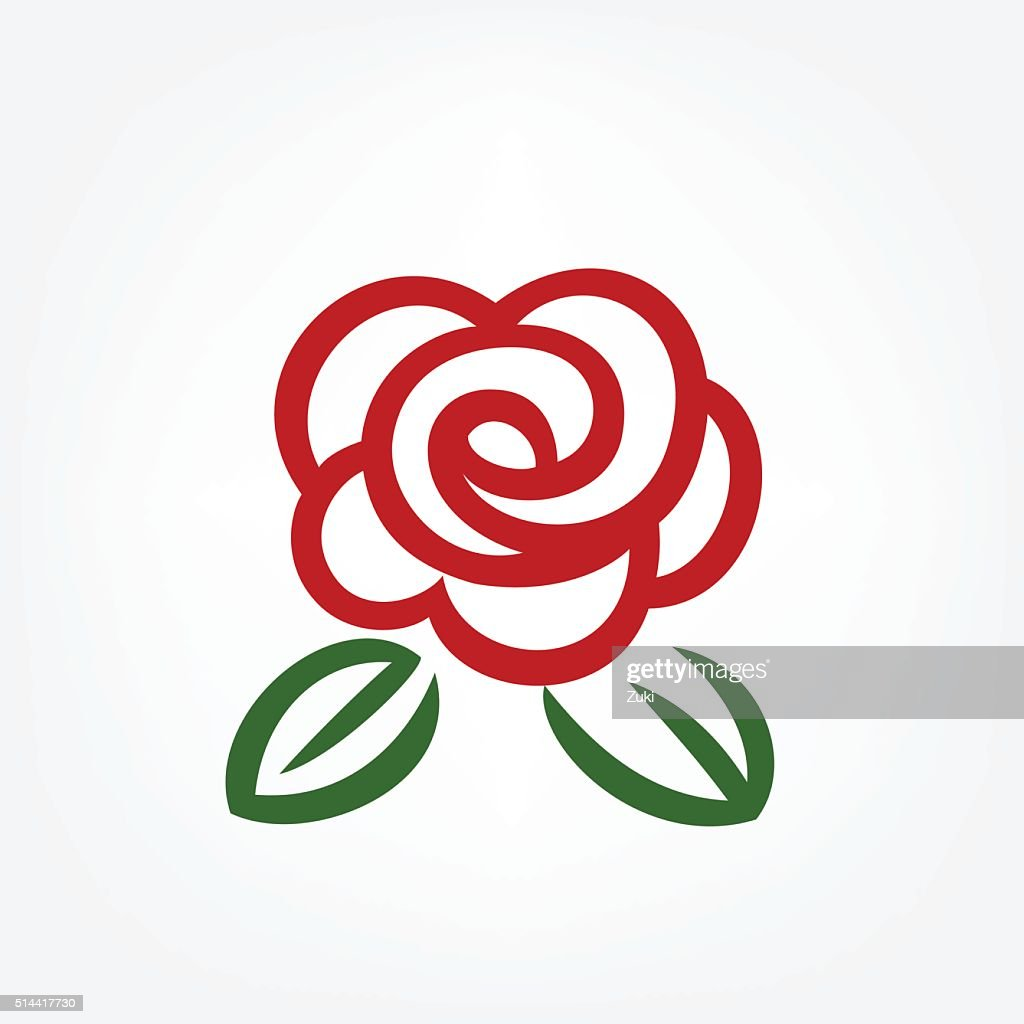 Simple red rose : stock illustration