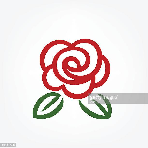 simple red rose - rosa stock illustrations