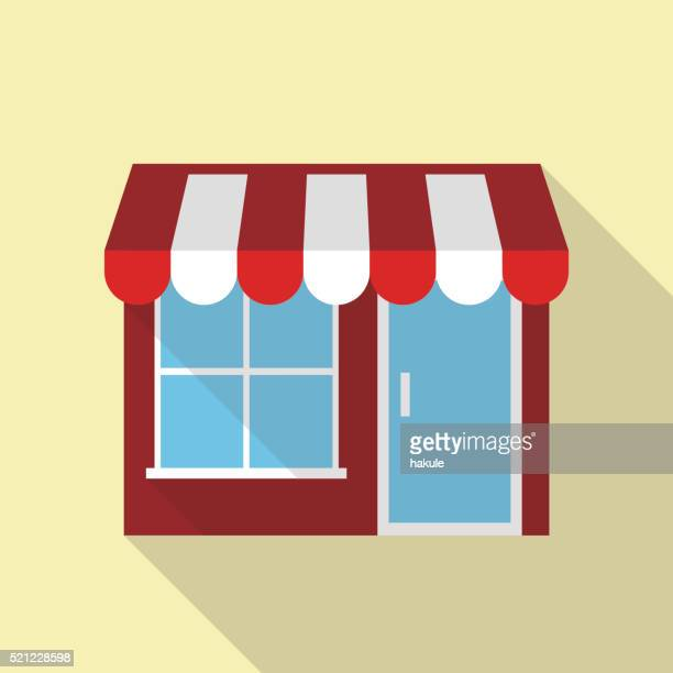 simple restaurant building for food - boutique stock illustrations, clip art, cartoons, & icons