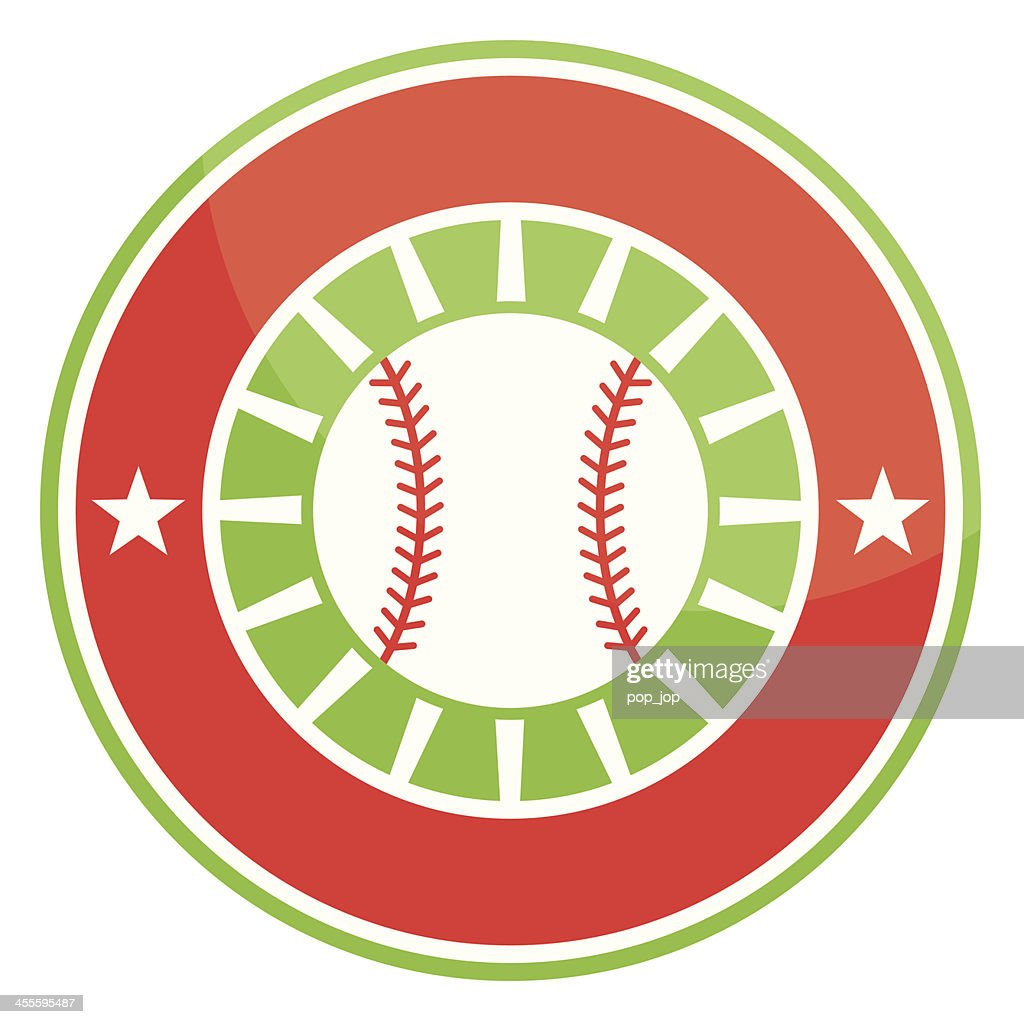 Simple round baseball emblem