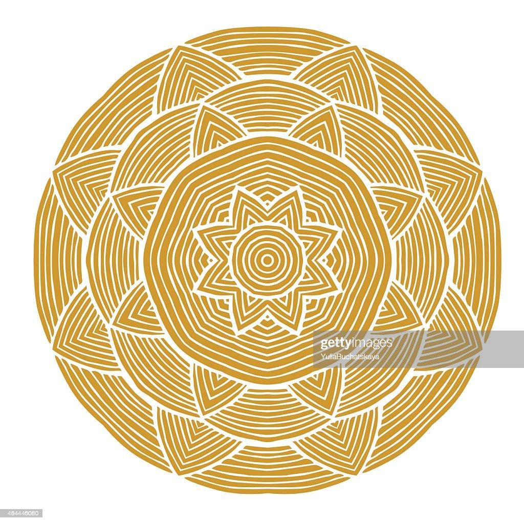 Simple round ornamet