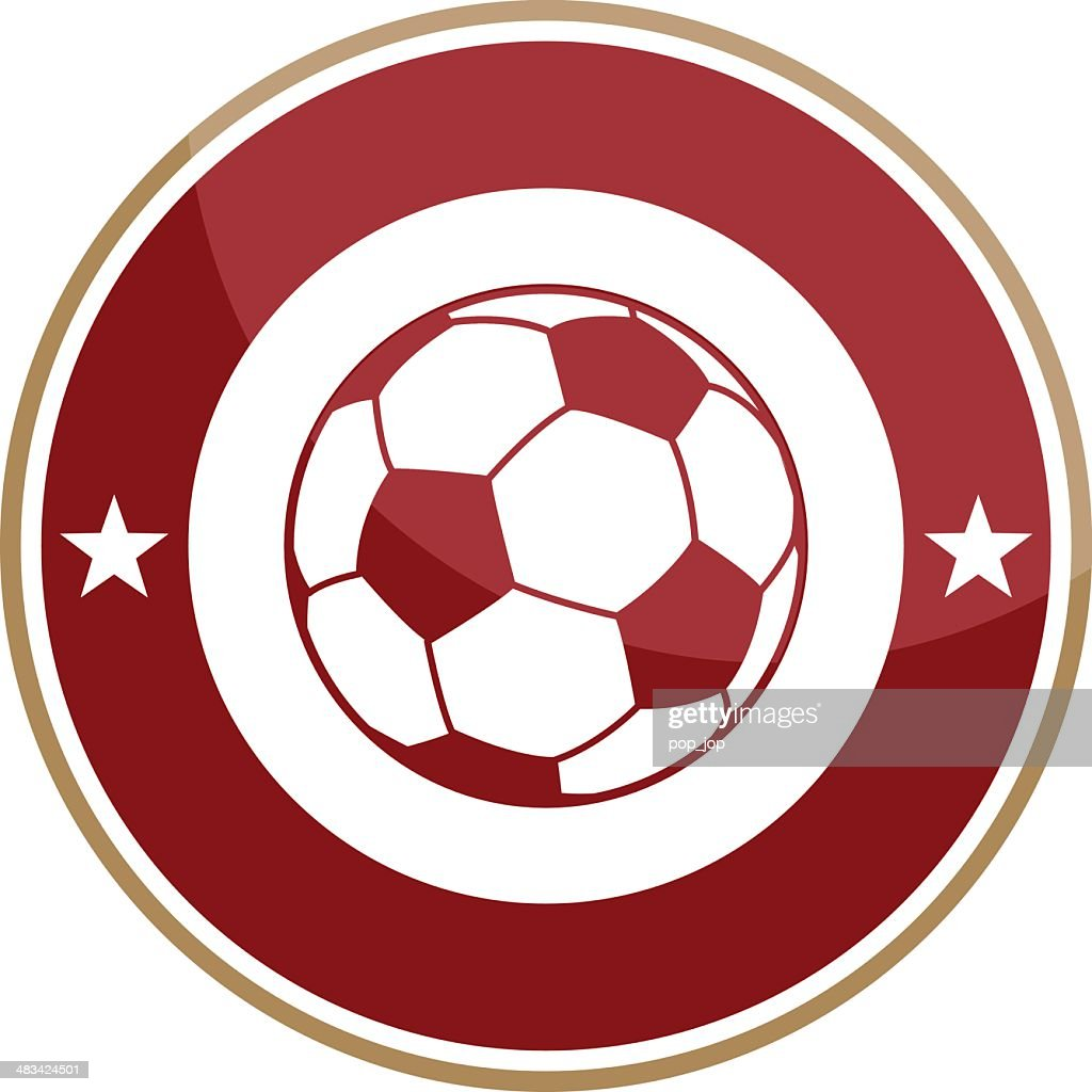 Simple round soccer logo