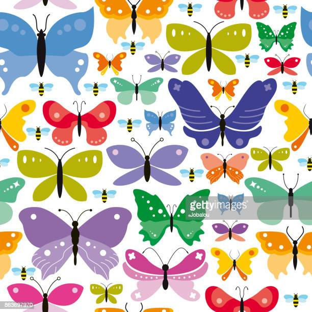 Simple Seamless Butterflies Background