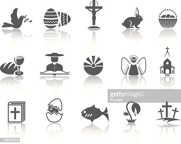 simple series – easter - basket stock illustrations, clip art, cartoons, & icons