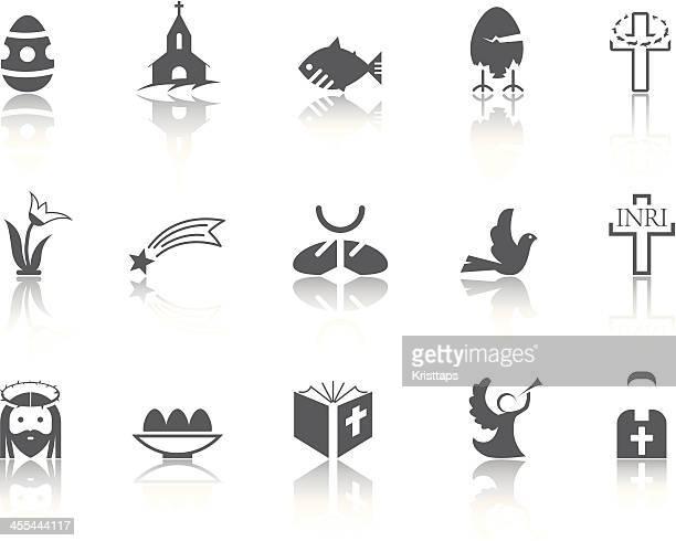 illustrazioni stock, clip art, cartoni animati e icone di tendenza di semplice-serie pasqua - colomba pasqua