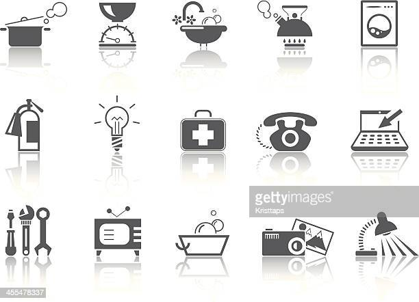 simple series – home equipment - kitchen scale stock illustrations, clip art, cartoons, & icons