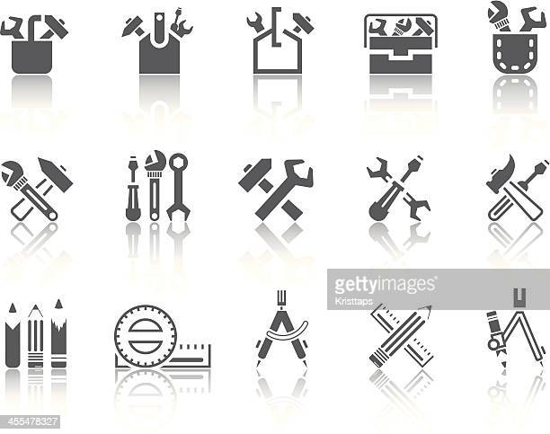 simple series – tools - carpenter stock illustrations
