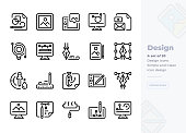 Simple Set of Art and Design.Vector  Icons. Editable Stroke. 48x48 Pixel Perfect