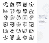 Simple Set of Business Strategy.Vector  Icons. Editable Stroke. 48x48 Pixel Perfect