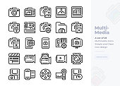 Simple Set of Camera and Photography .Vector  Icons. Editable Stroke. 48x48 Pixel Perfect