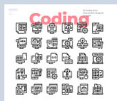 Simple Set of Coding.Vector Icons. Editable Stroke. 48x48 Pixel Perfect
