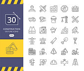 Simple set of construction related vector icons