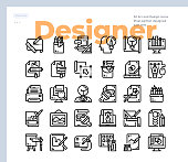 Simple Set of Designer and Creativity .Vector Icons. Editable Stroke. 48x48 Pixel Perfect