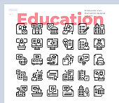 Simple Set of Education.Vector Icons. Editable Stroke. 48x48 Pixel Perfect