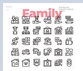 Simple Set of Family.Vector Icons. Editable Stroke. 48x48 Pixel Perfect