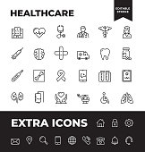 Simple Set of Healthcare Vector Line Icons