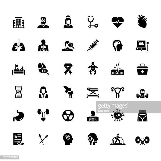医療と健康関連のベクターアイコンの簡単なセット。シンボルコレクション。 - 外科医点のイラスト素材/クリップアート素材/マンガ素材/アイコン素材