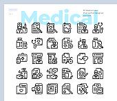 Simple Set of Medical and Healthcare .Vector Icons. Editable Stroke. 48x48 Pixel Perfect