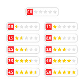 simple set of rating star badge