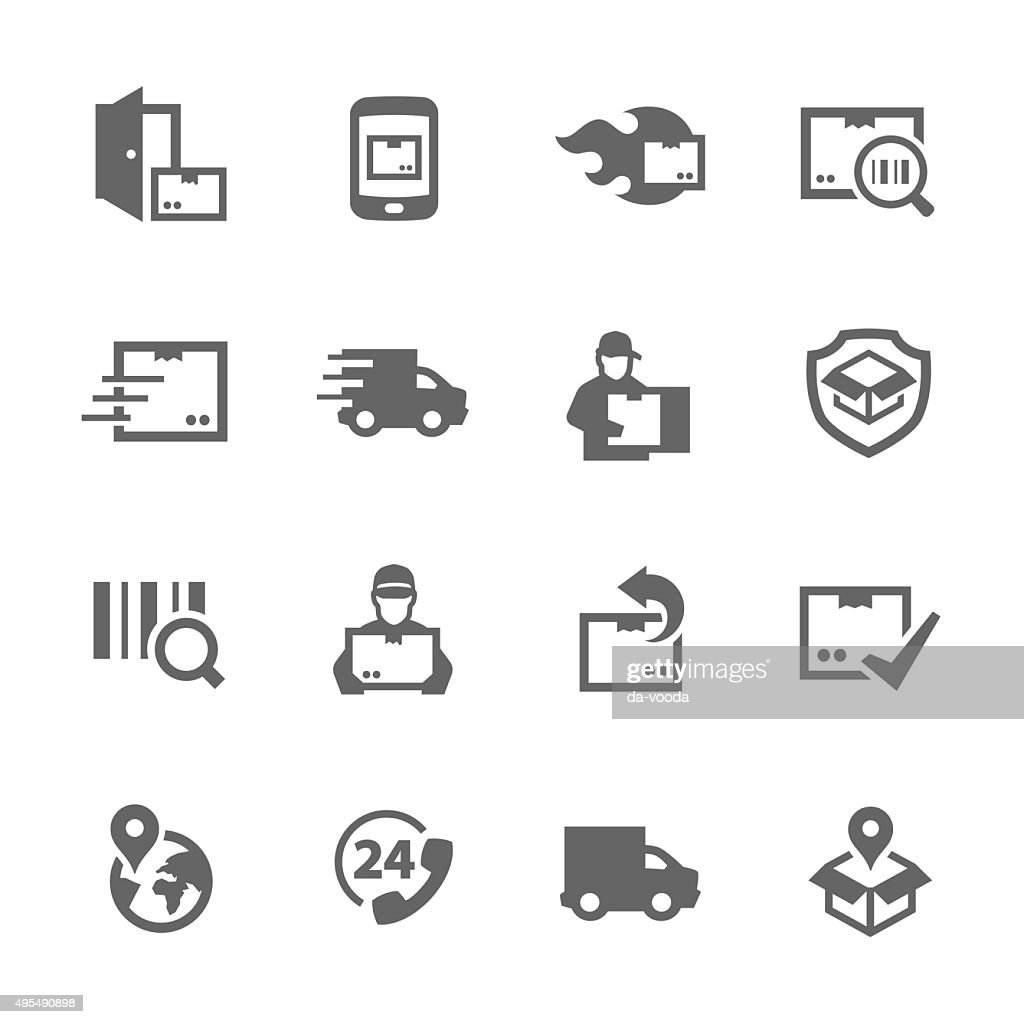 Simple Shipping and Delivery icons