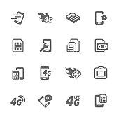 Simple Sim Card Icons