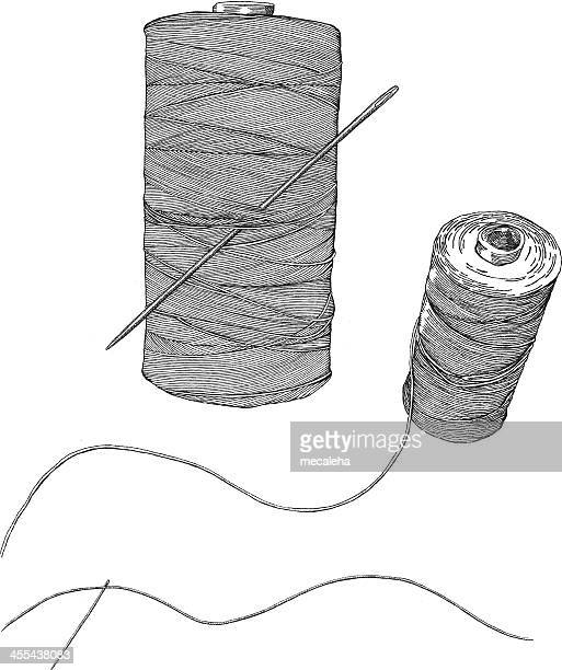A simple sketch of a needle and thread
