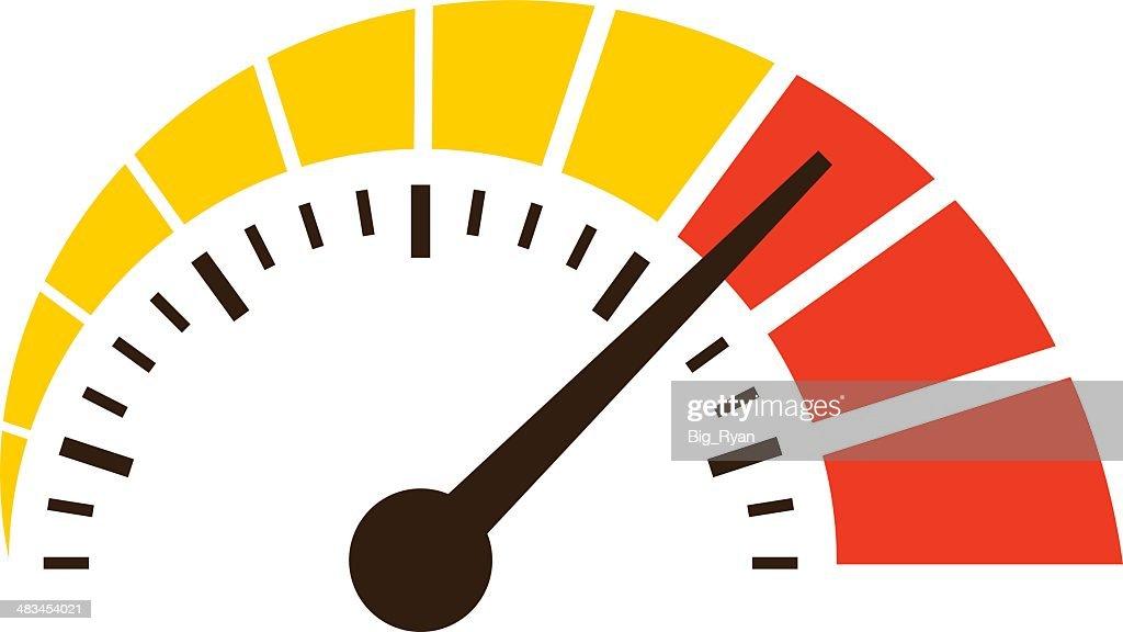 simple speedometer icon