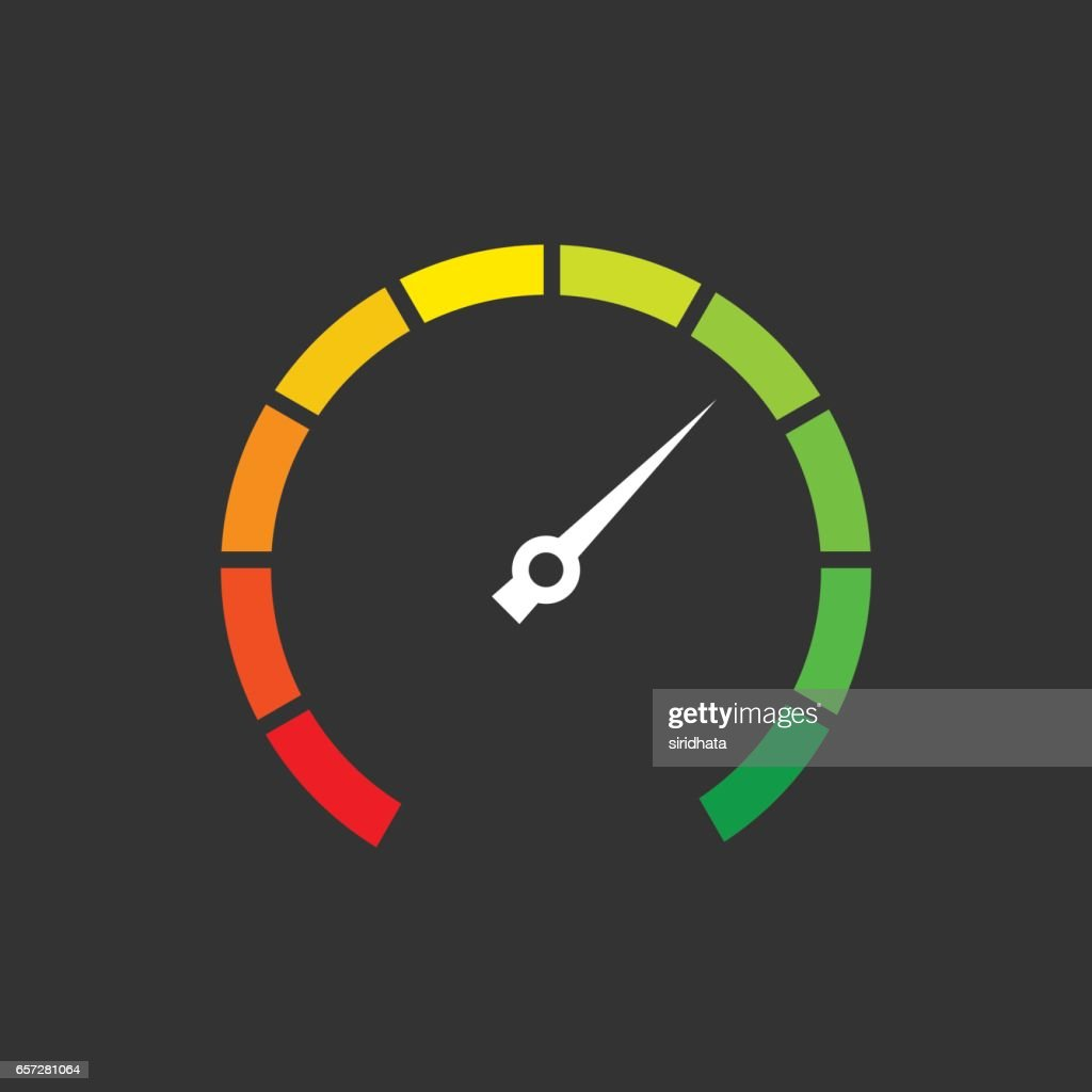 Simple Speedometer Vector Graphic