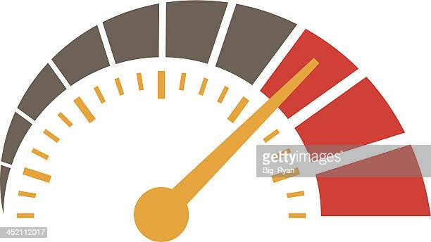 simple speedometer - speedometer stock illustrations