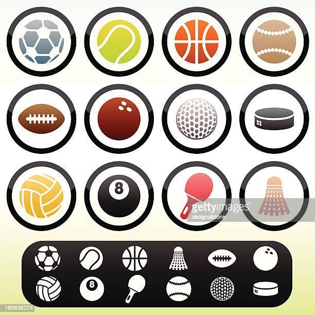 simple sports icons - badminton racket stock illustrations, clip art, cartoons, & icons
