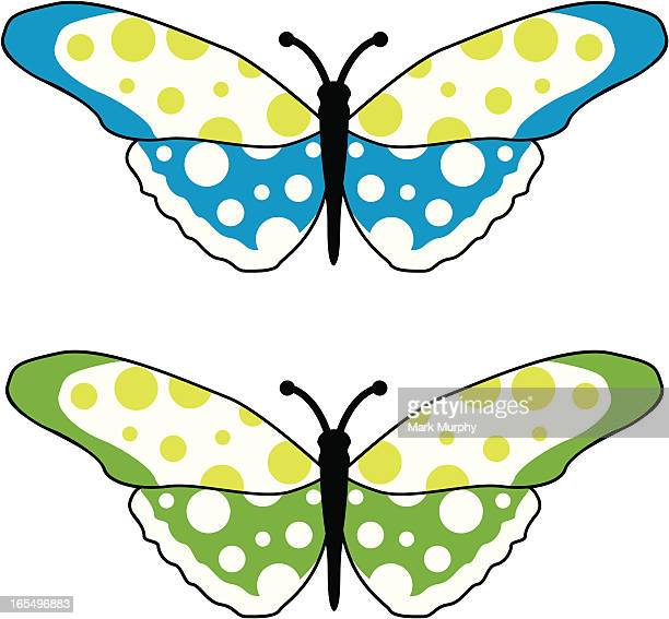 Simple Spotted Butterfly in Two Colours