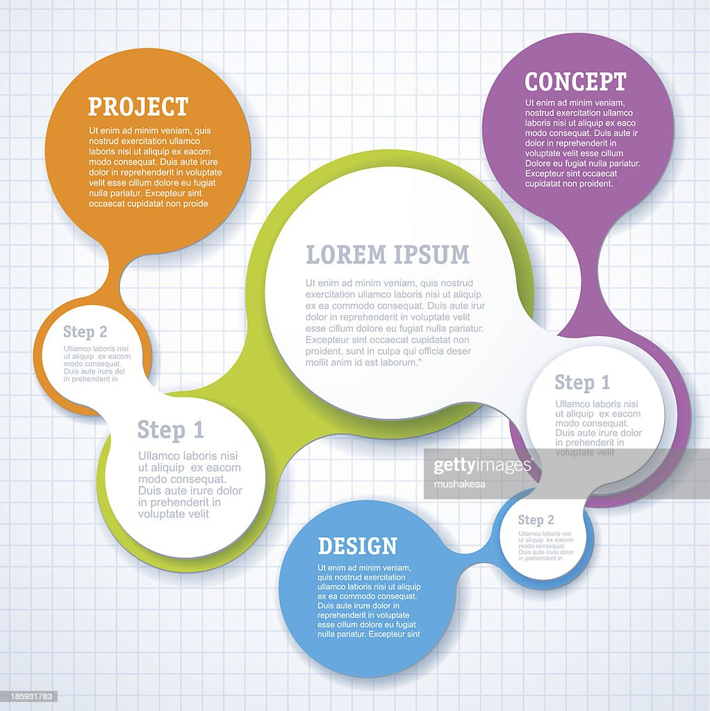 Simple step by step Infographic template design