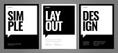Simple template design with typography for poster.