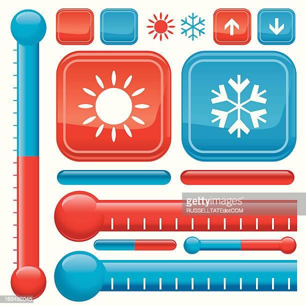 シンプルな温度計 - 熱映像点のイラスト素材/クリップアート素材/マンガ素材/アイコン素材