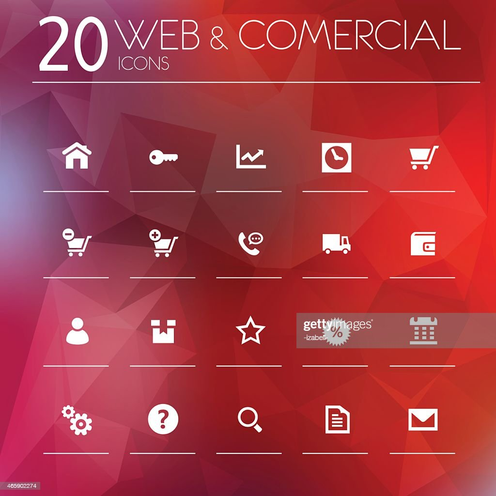 Simple thin web & commercial icons