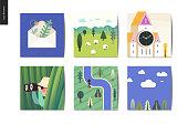 SImple things - postcards