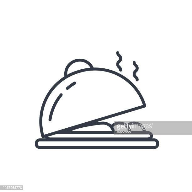 simple travel icon - serving tray stock illustrations