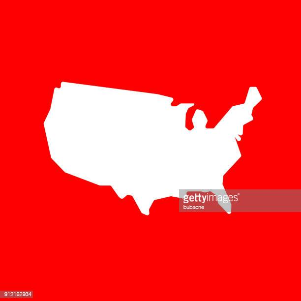 simple us country map. - werkzeug stock illustrations