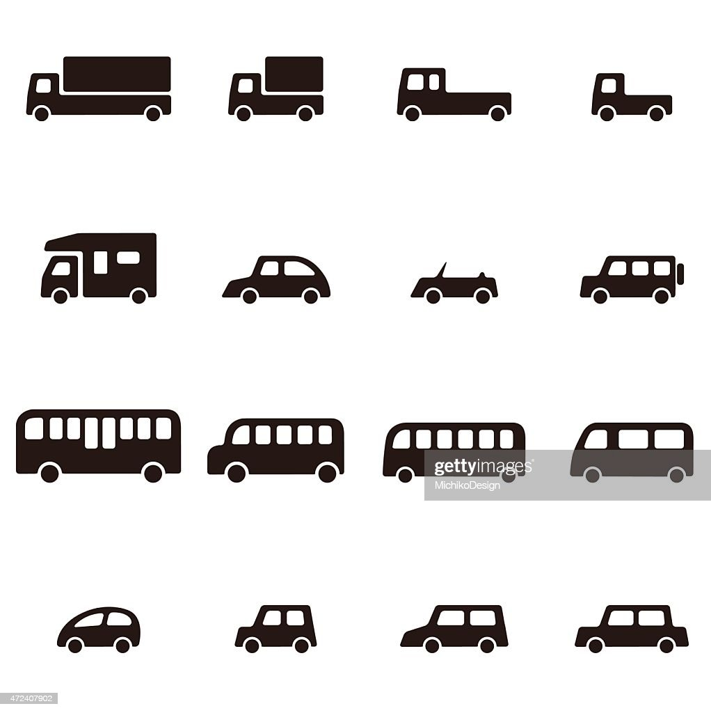 simple various car icon