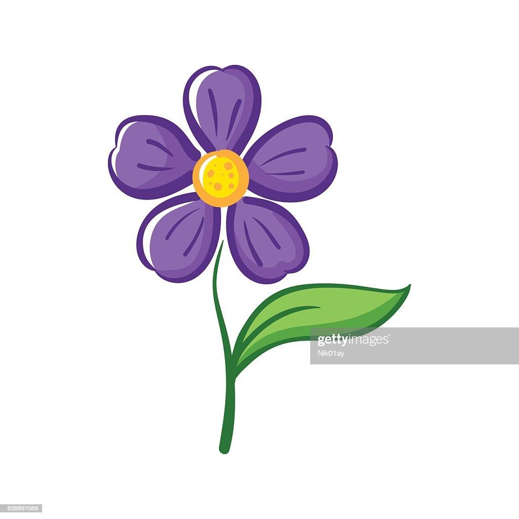 Simple Vector Flower