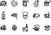 Simple vector icons of Italian foods