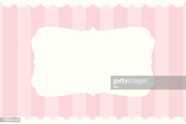 simple vintage banner - girly wallpapers stock illustrations