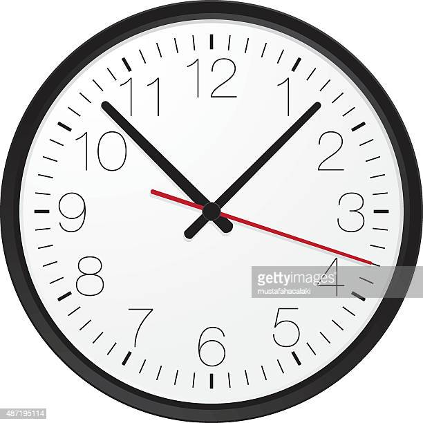 stockillustraties, clipart, cartoons en iconen met simple wall clock - klok