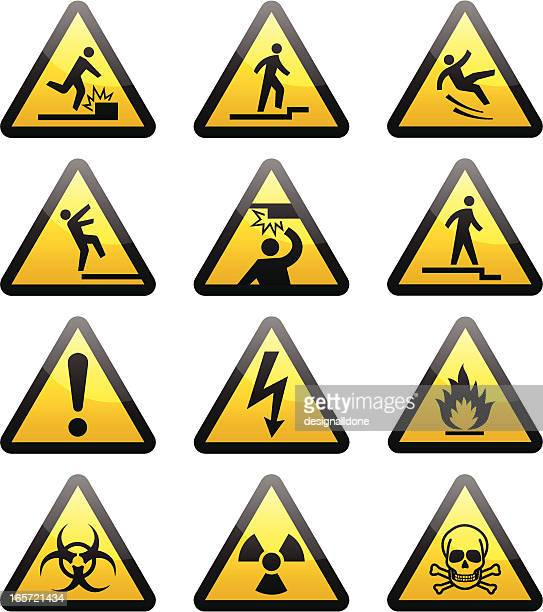 Simple Warning Hazard Signs