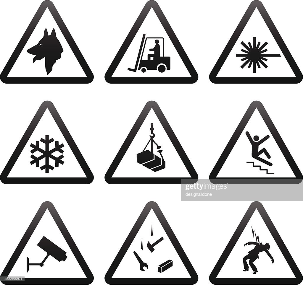 Simple Warning Signs : stock illustration