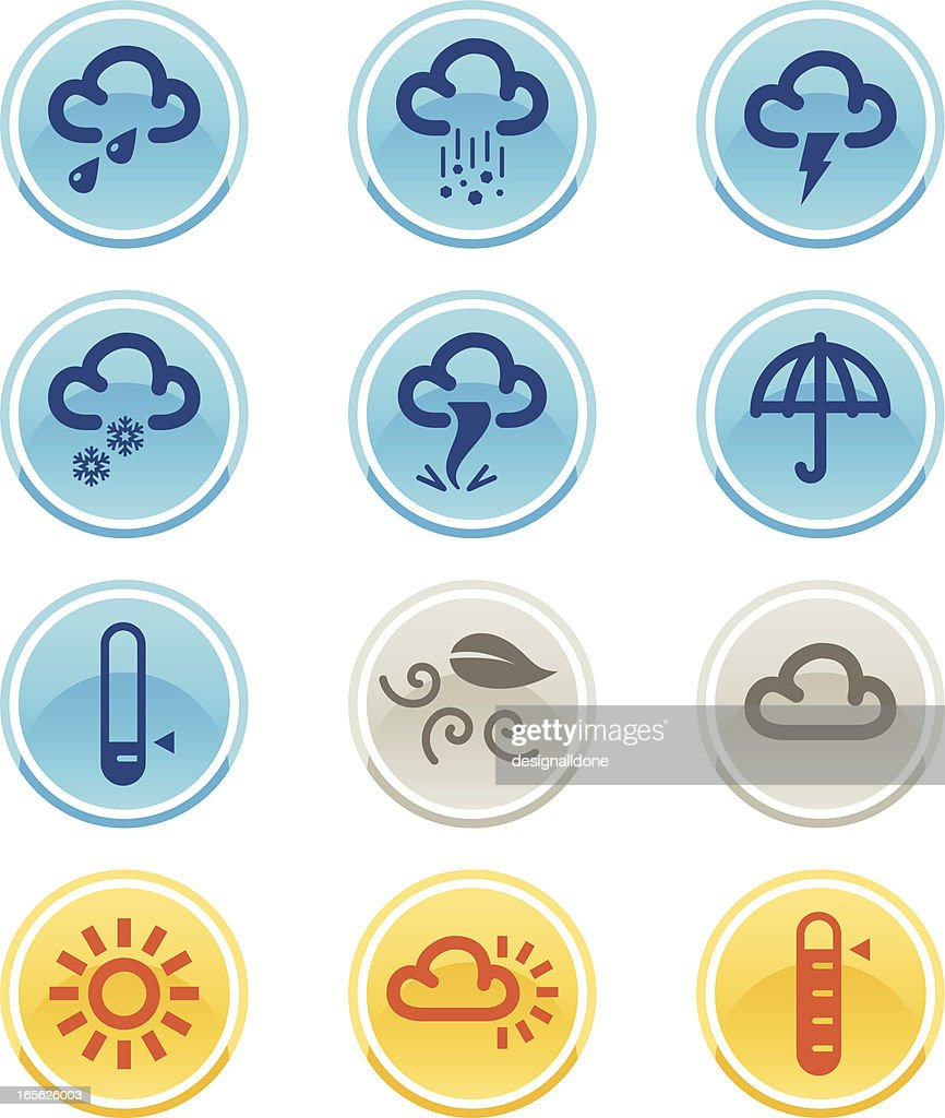 Simple Weather Icons : stock illustration