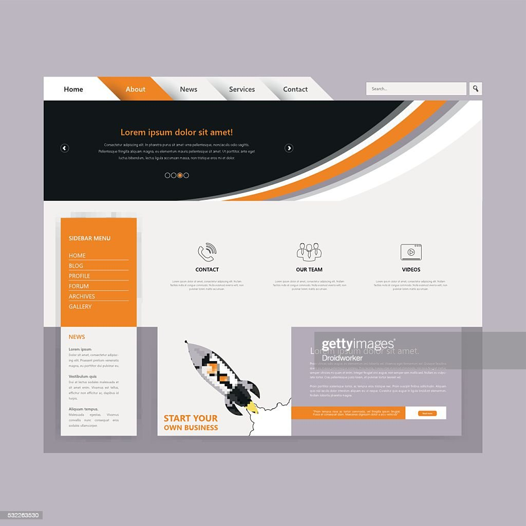 Simple Website Template For Your Business